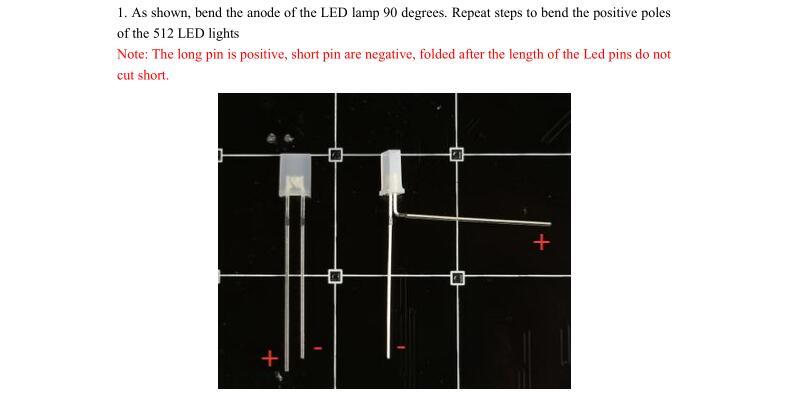 3D LightSquared DIY Kit 8x8x8 5mm White LED Cube Red Green