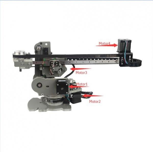4-Axis Desktop Robotic Arm with NEMA-17 Stepper Motors - [[:Template